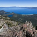 Lake Tahoe is an impressive sight from Mount Tallac's summit.- California's 60 Best Day Hikes