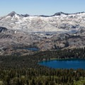 Pyramid Peak (9,984') and the Crystal Range as seen from the Mount Tallac Trail. Pyramid Peak is the highest point in Desolation Wilderness.- Ultimate Guide to Lake Tahoe