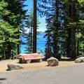 A lakeview site at Beach Camp.- California's Best Lake Camping