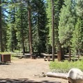 Typical campsite at Donner Memorial State Park Campground.- 3-Day Weekend Itinerary in Tahoe, CA