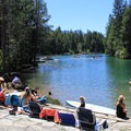 The Donner Creek outlet is a big draw in summer.- California's Best Lake Camping