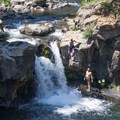 Jumping opportunities abound at Lower Falls on the McCloud River.- 14 Incredible Swimming Holes in Northern California