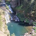 Overlooking Middle Falls on the McCloud River.- California's 35 Best Swimming Holes