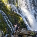 Middle Falls on the McCloud River.- 14 Incredible Swimming Holes in Northern California