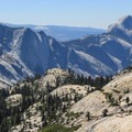 View toward Half Dome from Olmstead Point.- Climbing Half Dome In The Shoulder Season