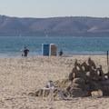 Castles made of sand at Coronado Beach in San Diego.- California's Best Beaches