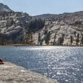 Upper Cathedral Lake with Tresidder Peak (10,605 ft) rising above.- 3-Day Itinerary for Yosemite National Park