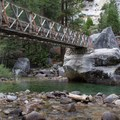 The Bailey Bridge in Kings Canyon, Rae Lakes Loop.- California's Best Backpacking Trips