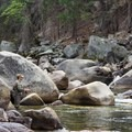 Fishing near Grizzly Falls.- Fire and Ice in Sequoia + Kings Canyon National Parks