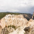 Looking across Yellowstone River Canyon at Inspiration Point.- 15 Backcountry Hikes in Yellowstone National Park