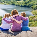 Overlooking Echo Lake from Artists Point.- Best New Hampshire Towns for Family Adventure