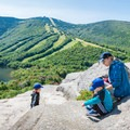Cannon Mountain ski slopes from Artists Point.- Best New Hampshire Towns for Family Adventure