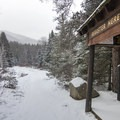 Trail registration and map at South Meadows.- Winter Destination Spotlight: 48 Hours in the Adirondacks