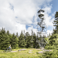 Approaching the Fire Tower.- The 5 Remaining Catskill Fire Towers