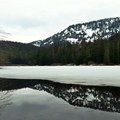 Reflection shot at Barclay Lake.- Amazing Snowshoe Trails in Washington