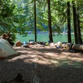 Campsite at Barclay Lake.- 70 Breathtaking Backcountry Campsites