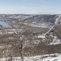 Bear Mountain: Looking north on the Hudson River.- Hudson Valley's 8 Best Snowshoe Adventures