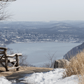 Bear Mountain: Observation point looking to the Hudson River.- Hudson Valley's 8 Best Snowshoe Adventures