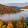 View from Belfry Mountain.- 15 Must-see Fall Foliage Adirondack Adventures