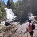 Bells Canyon Lower Falls.- Lone Peak Wilderness