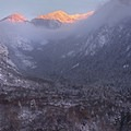 Bells Canyon from the lookout above the lower reservoir in winter. - Lone Peak Wilderness