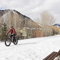 Fat biking on the Wood River Trail.- 5 Reasons to Get Outside with your Dog This Winter