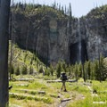Fairy Falls, near Firehole Meadows.- 6 Best Backpacking Trips in Yellowstone National Park