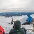 Everyone loves snack time on a Mount Hood ski tour.- Winter Backcountry Basics for You and Your Dog