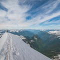 Looking South from the summit of Eldorado.- North Cascades National Park
