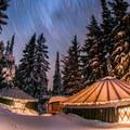 The yurts at Three Creeks Lake.- Best Winter Adventure Destinations