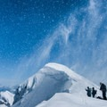 Massive up-draft depositing windblown snow on the south face of Mount St. Helens..- Mouthwatering Winter Adventures in Our National Parks