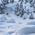 Fun pillows can be found on the bottom third of Lake Susan Jane Bowl.- Backcountry Skiing in Washington