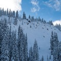 Steep and playful lines over Grace Lakes.- Backcountry Skiing in Washington