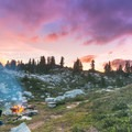 Camp life near Cyclone Lake.- Best Hikes for Fall Colors in Washington