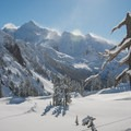 Mount Shuksan provides dramatic views on a clear day.- Backcountry Skiing in Washington