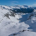 Hidden Lake, with plenty of good skiing all around.- Backcountry Skiing the Pacific Crest