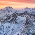 Aerial photo of the Three Sisters Wilderness.- Wander Among Wilderness Areas