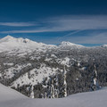 More views of the Central Oregon Cascades from Todd Lake Ridge.- Snowventure