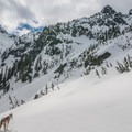 Looking South to Bryant Peak from Source Lake.- Backcountry Skiing in Washington
