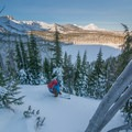 Quick laps above the Tam McArthur Rim Yurts. Three Creeks Lake below.- 10 Awesome Yurts for Winter Adventure