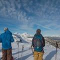The Tam McArthur Rim rises above Three Creek Lake Yurts.- 10 Winter Huts You Should Visit