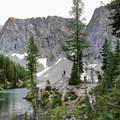 Blue Lake in the summer.- Blue Lake Hike