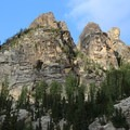 View to Liberty Bell along the trail to Blue Lake.- Blue Lake Hike