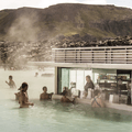The Blue Lagoon in-water bar.- Must-Visit Hot Springs in Iceland