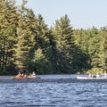 Canoeing across Hitchins Pond.- Three Adirondack Paddling Adventures for your Bucket List