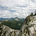 PNW trail: The old lookout looking toward Lion Head and the northern Selkirks.- America's Incredible Thru-Hikes