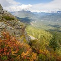 Looking north toward Whistler, the Sea-To-Sky highway visible top-centre.- The West's Best Hikes for Fall Colors