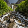 The upper section of Bridal Veil Falls.- 6 Days of Adventure in Utah's Wasatch Mountains