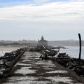 The Coquille River Lighthouse viewed from the jetty.- A Guide to Exploring Oregon's Lighthouses