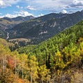 Looking east up Big Cottonwood Canyon. The fall colors in the Mount Olympus Wilderness are amazing.- Mount Olympus Wilderness